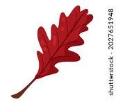 oak leaf. autumn design element....   Shutterstock .eps vector #2027651948