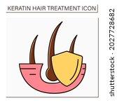 hair strengthening color icon....   Shutterstock .eps vector #2027728682