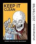Illustration Of A Skull Washing ...