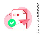 send with pdf format file...
