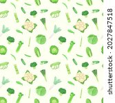 seamless pattern with green... | Shutterstock .eps vector #2027847518