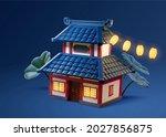 3d illustration of traditional... | Shutterstock . vector #2027856875