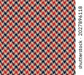 houndstooth check pattern in... | Shutterstock .eps vector #2027896118