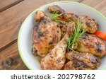 Baked Chicken With Thyme  Soy...