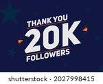 20k followers thank you...   Shutterstock .eps vector #2027998415