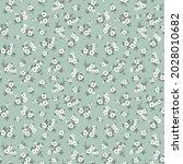 spring flowers print. vector... | Shutterstock .eps vector #2028010682