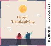 korean thanksgiving day... | Shutterstock .eps vector #2028037115