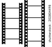 blank simple film strip set | Shutterstock . vector #202804498