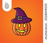 jack o lantern pumpkin cartoon...
