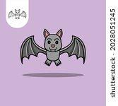 bat logo icon on white...