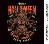 halloween forest monster... | Shutterstock .eps vector #2028053585