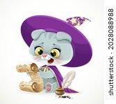 cute cartoon baby cat in the... | Shutterstock .eps vector #2028088988