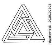 geometric figures. impossible... | Shutterstock .eps vector #2028102308