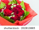 Stock photo red rose bouquet 202813885