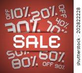 sale paper title   discount... | Shutterstock . vector #202822228