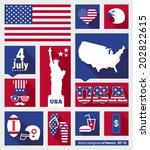 american design elements | Shutterstock .eps vector #202822615