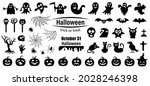 set of silhouettes of halloween ...   Shutterstock .eps vector #2028246398