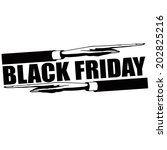 stamp with text black friday... | Shutterstock .eps vector #202825216