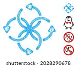 mesh knot rotation web icon... | Shutterstock .eps vector #2028290678