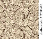 hand drawn seamless vector... | Shutterstock .eps vector #202830682