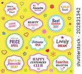 vintage vectors labels set for... | Shutterstock .eps vector #202831342