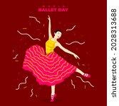 a woman dancing gracefully in... | Shutterstock .eps vector #2028313688