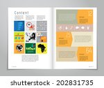 design layout for magazine or... | Shutterstock .eps vector #202831735