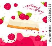 raspberry dessert with fresh... | Shutterstock .eps vector #2028366338