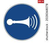sound horn sign. vector...   Shutterstock .eps vector #2028368078