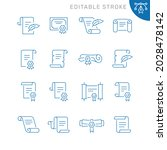 paper scroll related icons....   Shutterstock .eps vector #2028478142