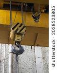 Lifting Cranes At A Car Factory