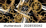 seamless pattern decorated with ... | Shutterstock .eps vector #2028530342