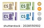 canadian dollar canada bank... | Shutterstock .eps vector #2028550502