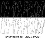 fashion silhouettes | Shutterstock .eps vector #20285929
