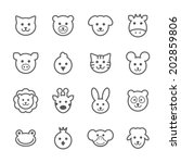 animals icons  vector. | Shutterstock .eps vector #202859806