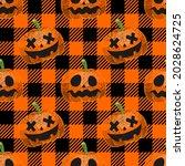 halloween seamless. halloween... | Shutterstock .eps vector #2028624725