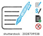 mesh sign contract web icon... | Shutterstock .eps vector #2028739538