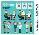 see a doctor infographic... | Shutterstock .eps vector #202875088