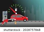 fuel gauge. fuel nozzle. gas... | Shutterstock .eps vector #2028757868