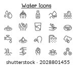 water icons in thin line style | Shutterstock .eps vector #2028801455