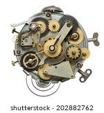 stylized metal collage of... | Shutterstock . vector #202882762