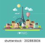 flat design illustration  ... | Shutterstock .eps vector #202883836