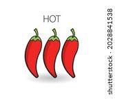 chili pepper level labels...   Shutterstock .eps vector #2028841538