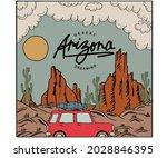 desert car tour print vector...   Shutterstock .eps vector #2028846395