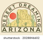 arizona desert dreaming  vector ...   Shutterstock .eps vector #2028846602