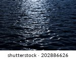 Light Reflecting On Dark Water