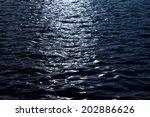 Light Reflecting On Dark Water