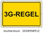 German 3g  Rule On Yellow Sign