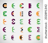 unusual letters set   isolated... | Shutterstock .eps vector #202891342