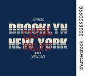 brooklyn  new york city  casual ...   Shutterstock .eps vector #2028930998